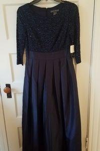 Jessica Howard Navy Blue Long Formal Dress